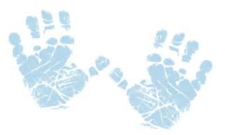 Baby Footprints and Hand Prints Clip Art