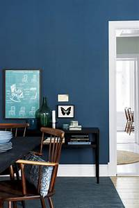 Blue Wall Color And Contrast Interior Design Ideas