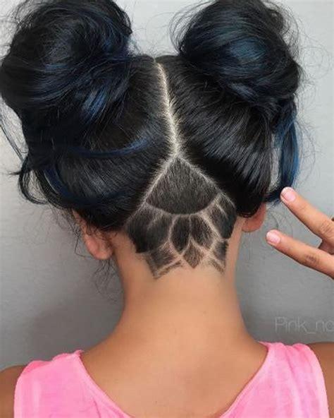 Nape Shaved Design Women For 2018 Best Nape Haircut