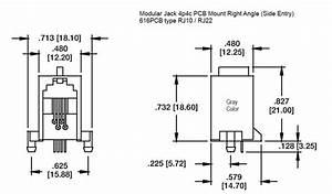 Modular Jack 4p4c Right Angle  Phoenix Enterprises