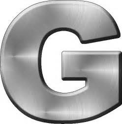 Metal Alphabet Letter G