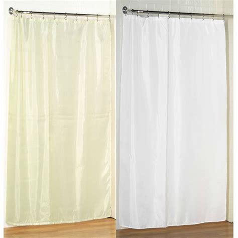 stall size fabric shower curtain 54 quot w x 78 quot l weighted