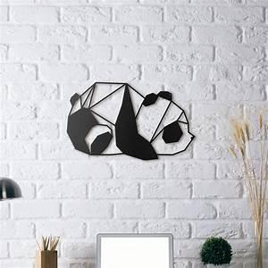 Decoration Murale Metal Design : d coration murale m tal panda artwall and co ~ Teatrodelosmanantiales.com Idées de Décoration
