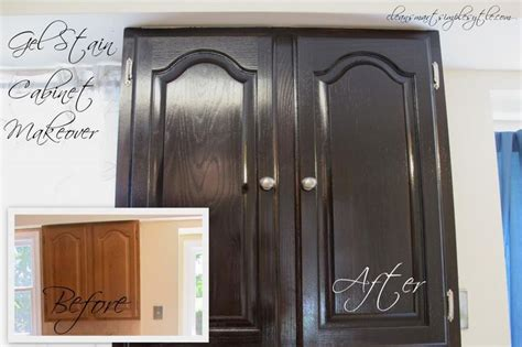 Gel Stain Cabinets Before And After by Gel Stain Cabinet Makeover Before After Projects