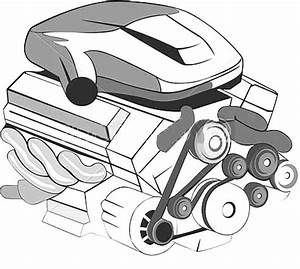 Car Parts Engine Coloring Pages