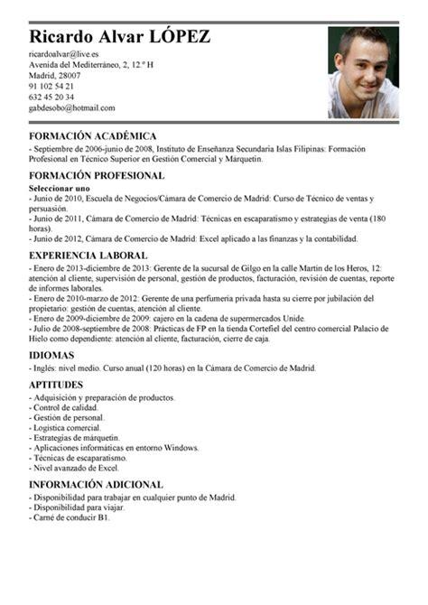 Curriculum Vitae For Branch Manager by Modelo De Curr 237 Culum V 237 Tae Gerente De Sucursal Gerente