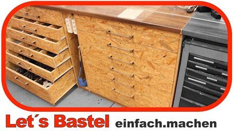 Schubladen Selber Bauen by Werkzeugschrank Aus Holz Selber Bauen Werkstattschrank