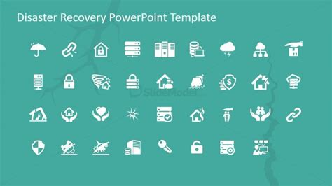 disaster recovery powerpoint icons slidemodel