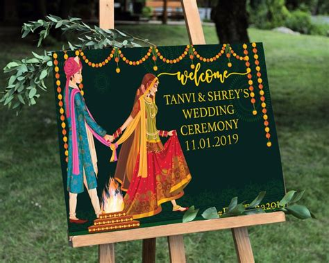 indian wedding  sign indian wedding ceremony sign