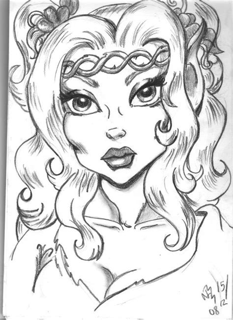 Joyleaf by Nanna [©2009] | Chibi coloring pages, Fairy
