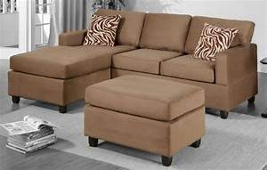 Product reviews buy poundex f7662 light brown microfiber for Light brown microfiber sectional sofa