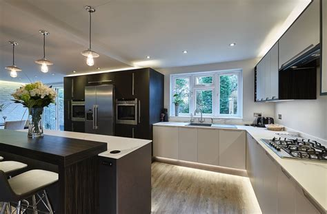 luxury kitchen designs uk study 003 leather linen a contemporary luxury 7304
