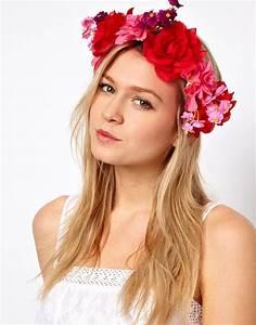Couronne De Fleurs Mariée : couronne de fleurs rouge ~ Farleysfitness.com Idées de Décoration
