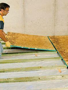 installing  floor sleepers  slab insert shims