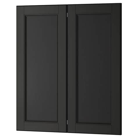 8 door corner cabinet laxarby 2 p door corner base cabinet set black brown