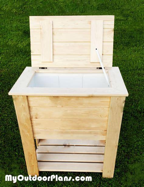 diy wood cooler myoutdoorplans  woodworking plans