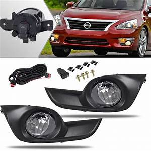 For 2013 2014 2015 Nissan Altima 4 Door Fog Light Kit Clear Lens Wiring Harness