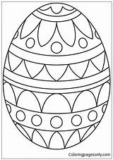 Easter Pages Simple Pattern Egg Coloring Printable Eggs Print Culture Arts Coloringpagesonly sketch template