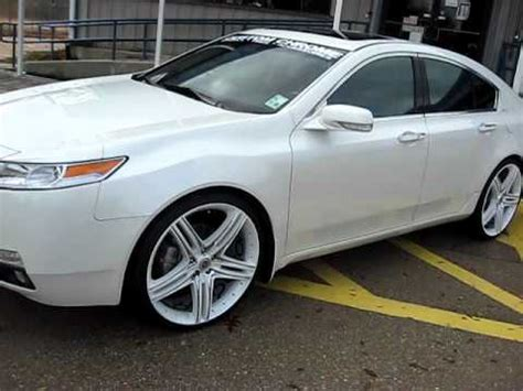 09 acura tl on 22 quot wheels dropstar tis youtube