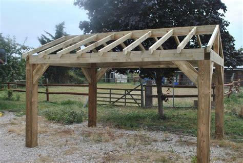 wooden garden shelter frame hot tub car port canopy kit