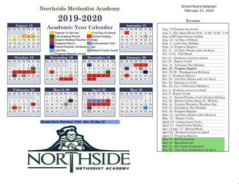 northside methodist academy calendar