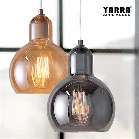 smoke glass pendant light ceiling lamp modern chandelier