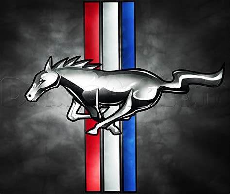 Ford Mustang Logo by How To Draw The Mustang Logo Step By Step Cars Draw