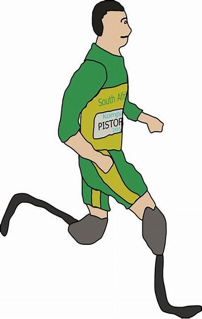 Amputee Clipart Runner Disabled Pistorius Oscar Clip