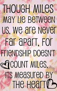 Friendship Quotes: Long Distance Friendship Quote In Cute ...