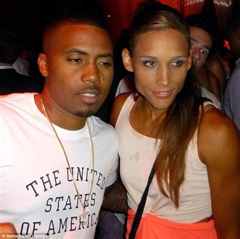 lolo jones parties  rapper nas  sexy leather shorts