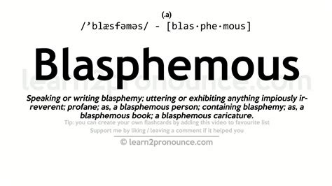Blasphemous Pronunciation And Definition