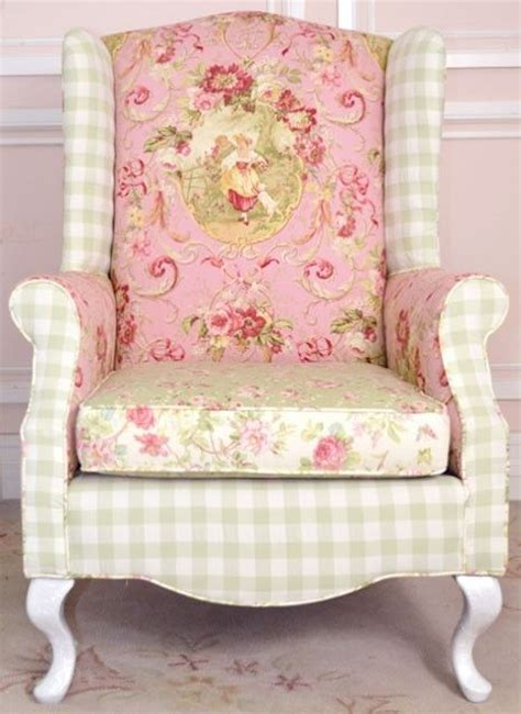 shabby chic wingback chair chairs