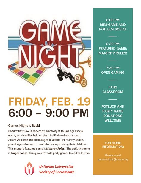 Games Night Is Back!  Uuss  A Sacramento Church. Fall Facebook Cover Photos. Video Intro Template Free. Best Wishes For Graduation. Stanford University Graduate School Of Business. Software Engineer Resume Template. Super Bowl Party Flyer. Basketball Practice Plan Template Pdf. Business Credit Application Template