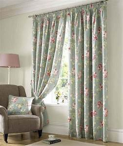 Captivating Floral Accents Window Curtain Design For