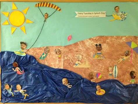Toddler Summer Classroom Board- Beach Theme