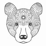 Totem Animal Bear Coloring Drawn Drawing Poles Animals Cute Pole Hand Pages Tribal Panda Ethnic Adult Patterned Getdrawings Vector Sheets sketch template