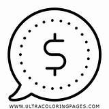 Coloring Cash Dinheiro Colorir Desenho Dollar Ultracoloringpages sketch template