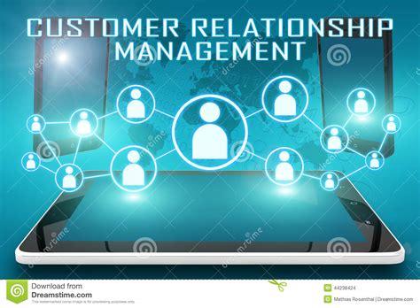 mobile customer relationship management customer relationship management stock illustration