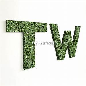 customized size artificial topiary alphabet letter dongyi With artificial topiary letters