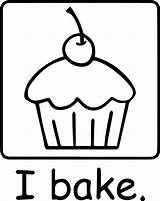 Coloring Cupcake Dessert Cartoon Frosting Pages Wecoloringpage Food sketch template