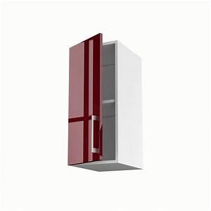 Meuble Haut Profondeur 20 Cm : meuble de cuisine haut rouge 1 porte griotte x x ~ Dailycaller-alerts.com Idées de Décoration