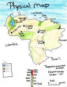Venezuela Physical Features Map