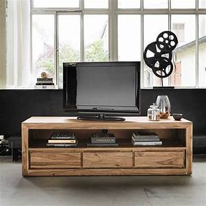 meuble tv bibliotheque design en 50 idees inspirantes With meuble style maison du monde
