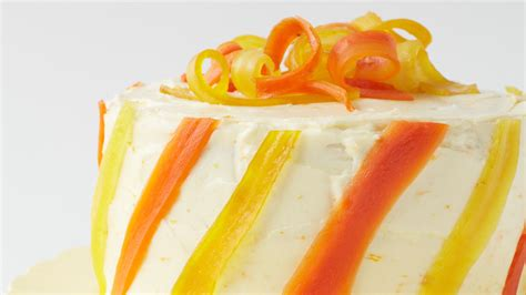carrot ginger layer cake  orange cream cheese frosting