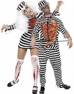 Halloween Paar Kostüme : halloween zombie gefangenen paarkost m paarkost me und g nstige faschingskost me vegaoo ~ Frokenaadalensverden.com Haus und Dekorationen