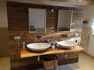 Holz Im Badezimmer : wandverkleidung holz badezimmer ~ Lizthompson.info Haus und Dekorationen