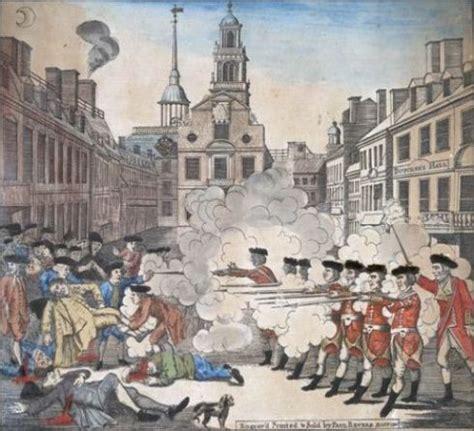 Boston Massacre by The Boston Massacre In Black White Color Streetsofsalem