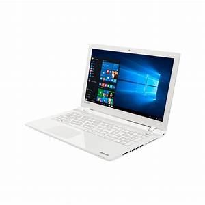 Ordinateur Portable Toshiba Blanc : toshiba ordinateur portable satellite l50 c 1zt blanc glossy ecran 15 6 p ~ Melissatoandfro.com Idées de Décoration