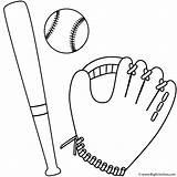 Baseball Bat Coloring Glove Ball Printable Softball Mitt Cartoon Clip Father Clipart Bigactivities Bats Template Sheets Outline Fathers Activities Colouring sketch template