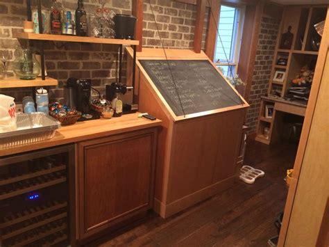 deep freezer built   chalkboard grocery list cover